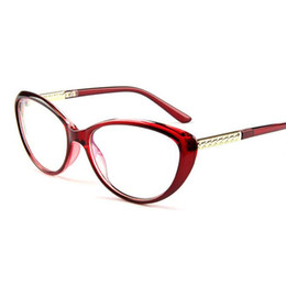 08e53de49a29 Wholesale- Women s Glasses Frame Cat Eyes Eyeglasses Anti-fatigue Computer  Optical Frame Clear Glasses Prescription Eyewear Vintage quality