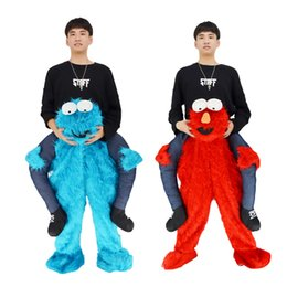 2017 elmo sesame street cookie monster mascot costume dress costums adult size free delivery