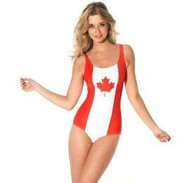 Bathe milk online shopping - Canada flag bikini one piece Free size swimwear Comfortable swim wear Black milk sport bathing suit Woman swimsuit