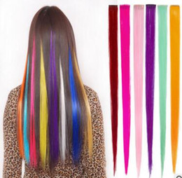 Clip Hairpieces For Women Canada - Fashion hair for women Long Synthetic Clip In Straight Hairpiece Party Highlights Punk hair pieces