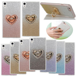 Discount rhinestone rings case - Diamond Rhinestone Bling Gradient TPU Case With Ring Holder For iPhone X XS Max XR 8 7 6s Plus Samsung Note 9 Huawei P20
