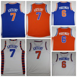 Noël Blanc Bon Marché Pas Cher-Pas cher 7 Carmelo Anthony Maillots Uniformes SYRACUSE 15 Carmelo Anthony College Basketball Maillot Shirt Throwback Noël Bleu Blanc Orange