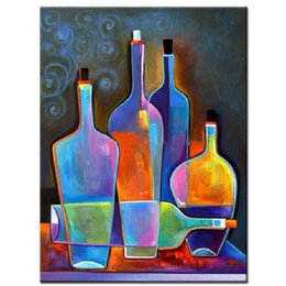 Discount Abstract Colorful Oil Painting   Hand Painted Modern Canvas Oil  Painting Still Life Wall Art
