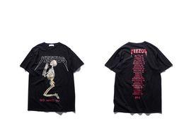 395c95e3b32054 Männer Schädel Religiöse Kurzarm T-shirt 2017 Sommer Kanye West Yeezus T- shirt Gott Wollen Sie Männlichen T-stück Baumwolle YEEZUS Tops