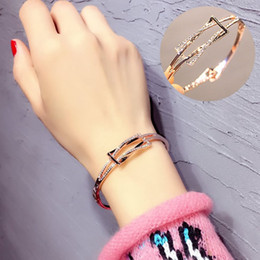 $enCountryForm.capitalKeyWord Australia - Europe fan geometry fashion bracelet jewelry manufacturers wholesale Bracelet female students all-match