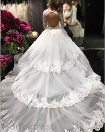 $enCountryForm.capitalKeyWord NZ - 2017 New Luxury Lace Wedding Dresses Long Sleeves V-Neck Backless Appliques Ball Gown African Elegant Bridal Gown Chapel Train Plus Size