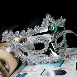 $enCountryForm.capitalKeyWord Australia - 200pcs lot Women Halloween Party Mask Crown Bright Half Face Masquerade Girls Masks Golden Silver For Female Dancing Cosplay