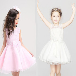 Discount flower child prom dresses - Flower girls Princess dresses clothes girls prom dress show tulle skirt baby gown children boutique clothing luxury lace