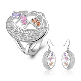 $enCountryForm.capitalKeyWord NZ - wedding color silver plated jewelry sets for women WS732,nice 925 silver earring ring set