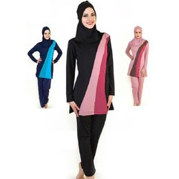 95b3eb707c4ce Wholesale 2017 Full Cover Up Womens Modest Muslim Swimwear Girls  Conservative Long Sleeve Islamic Swimsuit Bathing Suit Free Shipping