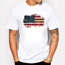 Discount usa t shirt designs Brand Clothing Men T-shirt Many Styles USA National Flag Design Shortsleeved O-neck Casual Cotton Fit Tops Tee Plus Size