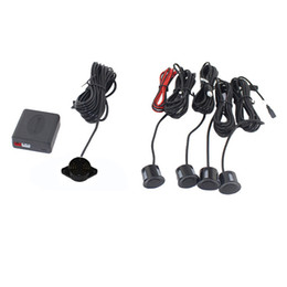 China 4 Sensors Buzzer No Drill Hole Saw 22mm Car Parking Sensor Kit Reverse Radar Sound Alert Indicator System cheap indicator parking car suppliers