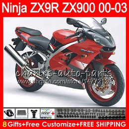 Zx9r fairing red online shopping - 8Gifts Colors For KAWASAKI NINJA ZX R ZX9R CC Stock red NO24 ZX R ZX900 ZX900C ZX R Fairing kit