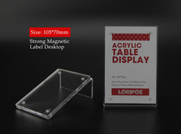 Desk Accessories & Organizer 10pcs 21*29.7cm A4 Acrylic Magnetic Label Holder Stand Poster Banner Menu List Frame Advertising Desk Sign Holder Display Stand Desk Set