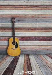 $enCountryForm.capitalKeyWord NZ - wooden wall floor gitar photography background for wedding children baby newborn computer printed vinyl backdrop for photo studio