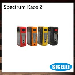 Build light Box online shopping - Sigelei Spectrum Kaos Z W TC Box Mod With inch TFT Color Screen Built in LED Lights Original
