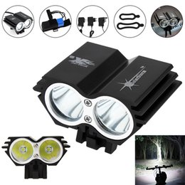 $enCountryForm.capitalKeyWord NZ - SolarStorm 2400LM X2 CREE XM-L U2 Waterproof Bicycle LED Headlight with Rechargable Battery + Charger + Rubber Ring BLL_01T