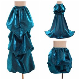 Robes Burlesques Pas Cher-3 Types Femmes Bustle Train Victorian Steampunk Gothic Burlesque Overskirt Rococo Blue Bustled Gown Fast Shipment