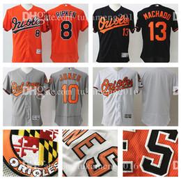 5e5440e57 ... Embroidery Baltimore Orioles 8 Cal Ripken Jr. 13 Manny Machado Flex Base  Baseball Jerseys 10 ...