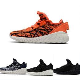 2017 Adidas Originals Mens Tubular Doom PK Buffer Running Shoes Yeezy Black  Grey Orange Lightweight Athletics Discount Sneakers US 7-10