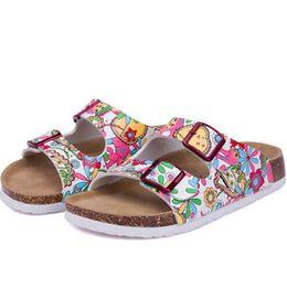 جديد الصيف شاطئ الفلين النعال الصنادل عارضة مزدوجة إبزيم قباقيب sandalias النساء الانزلاق على زحافات الشقق الأحذية
