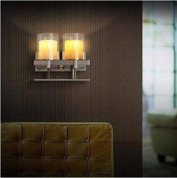 Nordic Fashion Modern LED Wall Light Fixtures Creative Candle Wall Lamp  Silver Stainless Steel Wall Sconce For Bedroom Home Lighting