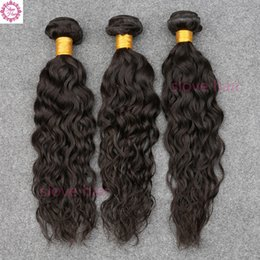 ocean wave hair NZ - Brazilian Virgin Hair Brazilian Water Wave Virgin Hair Wet And Wavy Virgin Brazilian Weave Bundles Ocean Wave Human Hair 1B