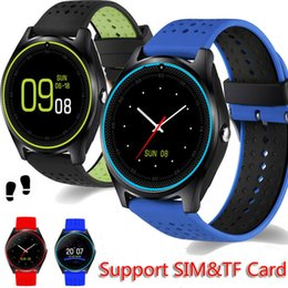 $enCountryForm.capitalKeyWord Australia - V9 Bluetooth Smart Watch Support TF SIM card 2G With Camera Pedometer Health Sport Dial Phone Call Smartwatch For Android IOS