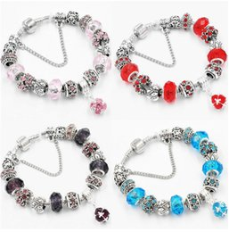 Glasses Trade Australia - Glass bead crystal pendant DIY chain bracelet female European and American foreign trade jewelry wholesale