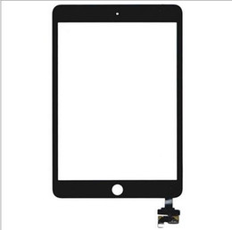 Ipad Mini Digitizer Replacement Black UK - Replacement For iPad Mini 3 Mini3 A1599 A1600 A1601 Touch Screen Digitizer Glass Lens Black Or White colour with sticker