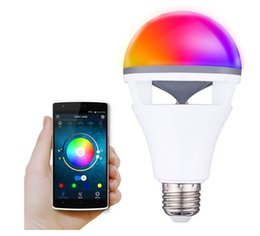 change player UK - Speaker Bluetooth E27 LED RGB Light Music Bulb Lamp Color Changing via WiFi App Control MP3 Player Wireless Bluetooth Speaker