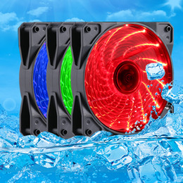 $enCountryForm.capitalKeyWord Canada - Wholesale- PC Computer Case Heatsink Cooler Cooling Fan Red Blue Green LED DC 12V 4P 3P 120mm 120*120x25mm 12025S 12cm