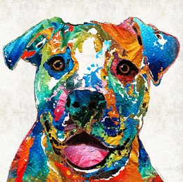 $enCountryForm.capitalKeyWord UK - The art of printing high quality decorative painting ---colorful-dog-pit-bull-art-happy-by