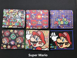 world games Canada - SUPER MARIO WORLD Wallets Cute Cartoon Comics Purse Student Short Game Wallet Coin Bag Credit Card Holder Anime Wallet For Teens