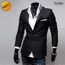 Hommes Blazer À Bas Prix Pas Cher-Fashion 2017 Spring Autumn Casual slim fit Cheap Suit Single Breasted brand clothing gentleman blazers britanniques homme homme
