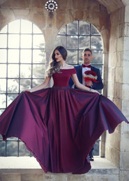 cccccde7114f Beautiful white off shoulder prom dress online shopping - 2018 New Arrival  Beautiful Burgundy Evening Dresses