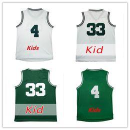 5b8c283cf0d Youth 33 Larry Bird Basketball Jerseys White Green Kids 4 Isaiah Thomas  Boys Jerseys Stitched Child Free Drop Shipping