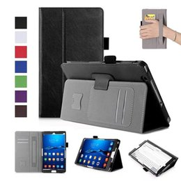 $enCountryForm.capitalKeyWord Canada - DOLMOBILE Flip PU Leather Cover Case for Huawei MediaPad M3 8.4 inch BTV-W09 BTV-DL09 Tablet Hand Holder Grip Shell w  Card Slots