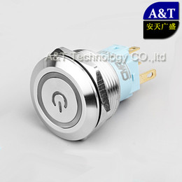 Waterproof momentary push button sWitch online shopping - 22mm Waterproof IP67 Dual Color Latching ON OFF Push Button V V V Red Green illuminated Metal Stainless Steel Momentary Power Switch