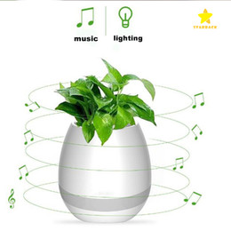 $enCountryForm.capitalKeyWord Australia - Multifunctional Smart Mini Wireless Flower Pot Plastic Sensor Colorful Light Bluetooth Speaker Flowerpot Plant Pots Table Decoratio
