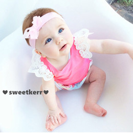 Infant tshIrts online shopping - 7 Colors Ins Baby Girls Lace Fly Sleeve Cotton Vest T shirts Infant Toddle Summer Tops Tees tshirts Kids Clothes Children Clothing