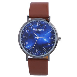 Wholesale 2017 fashion night star sky design leather watch unisex mens women casual dress quartz party git watches wristwatch for mens