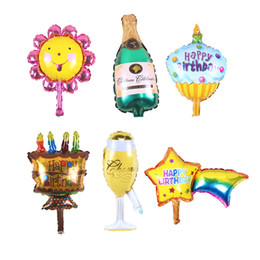 $enCountryForm.capitalKeyWord NZ - Champagne cup beer Bottle balloons sunflower Foil helium Balloons Party Star Shape Decoration Kids birthday wedding