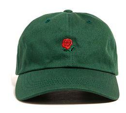 $enCountryForm.capitalKeyWord NZ - 2017 Customized Design Baseball Hat Fashion Rose Strap Back Cap Adjustable Cheap Men Casquette Golf Snapback Hip Hop Flat Sun Hat Women New