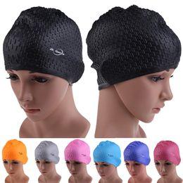 Hair Swimming NZ - New 7 Colors Swimming Caps Women and Men Universal Silicone Swim Cap Waterproof Hair Ear Protect Swimming Cap