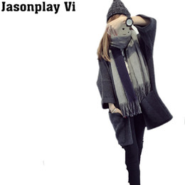 Wholesale boyfriend cardigans for sale - Group buy Jasonplay Vi Loose Boyfriend Style Winter Coat Knitted Oversize Sweaters Batwing Sleeve Pocket Cardigans PL498