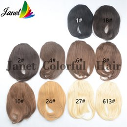 human hair extensions bangs 2019 - Bangs Fringes straght Human hair 3clips 20g Clip in on hair extensions width 12cm length 18cm Free shipping