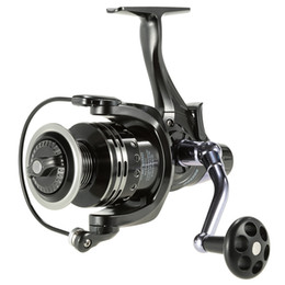 Chinese  Front And Rear Double Drag System 11+1BB Spinning Metal Fishing Reel 3000-6000 Aluminium Spool Dual Brake Wheel manufacturers