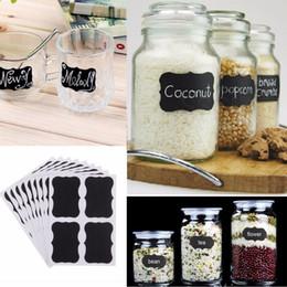 Discount spice jar bottles - Wholesale- 36pcs Glass Jar Bottle Sticker Kitchen Organizer Labels Chalkboard Blackboard Shape Tag Home DIY Chalk Board