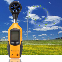 lcd screen sizes NZ - Professional HT-81 Handheld Pocket Size LCD Screen Display Digital Anemometer Wind Speed Measurement Measuring Tool